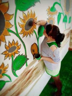 Роспись стен для детской комнаты