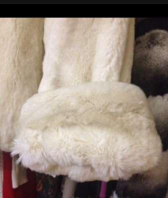 Полушубок кролик белый в Москве Фото 3