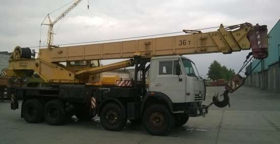 Автокран 36 тонн, стрела 30 м, камаз
