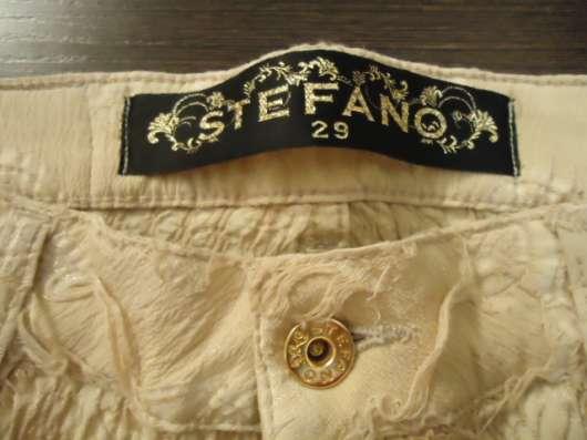 Джинсы Stefano желтые с золотом
