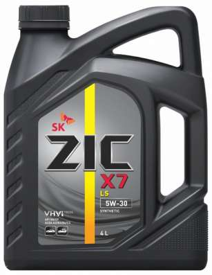 Масло ZIC X7 LS 5W30 SN/CF 4 литра синтетика