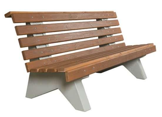 Скамейки парковые на бетонных ножках