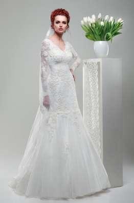 Кружевное свадебное платье-рыбка (русалка)