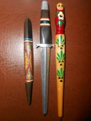 Винтажные шариковые ручки ручной работы.