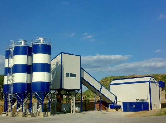 Зимний стационарный бетонный завод