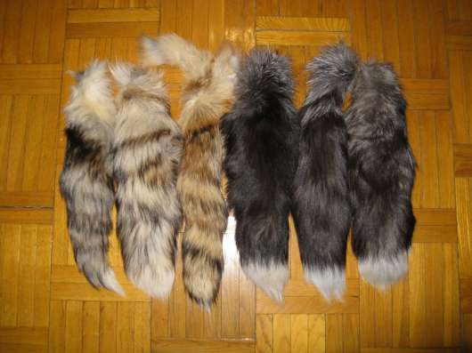 Натуральные меховые хвосты в Москве Фото 4