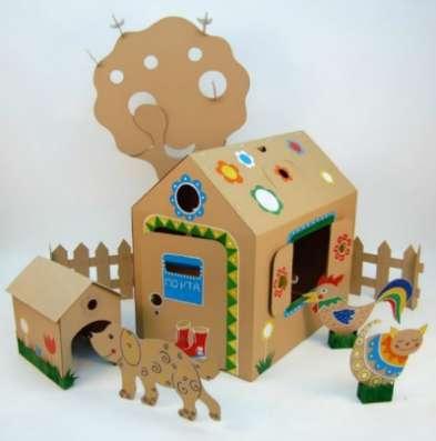 Картонные игровые домики