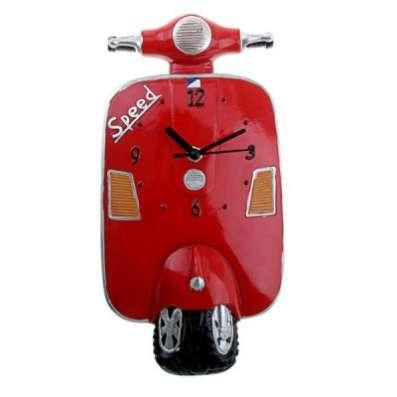 Мопед красный 760868 Часы настенные