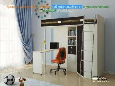 Кровать чердак м 85 с мет/лдсп лестницей