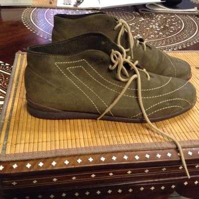 Замшевые летние ботинки
