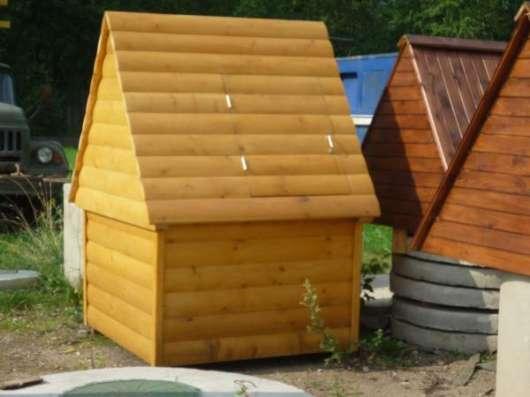 Колодезные домики, осиновый щит (донный фильтр) в г. Боровичи Фото 4