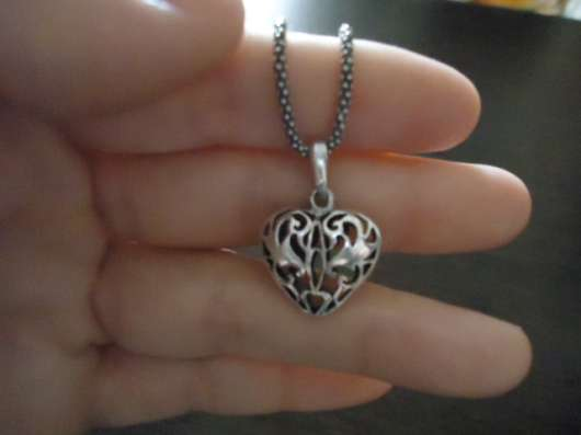 Кулон(подвеска) в виде сердечка, серебро