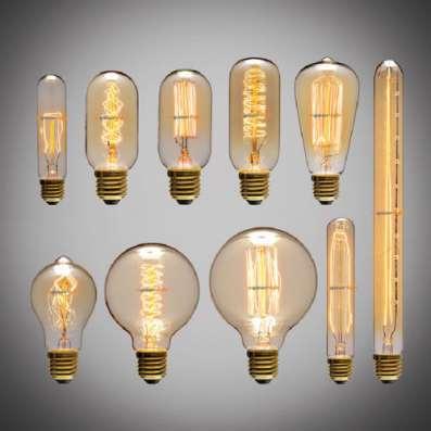 Комплект потолочных светильников Эдисон (3)