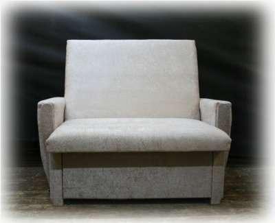 Кресло-кровать Плюш светлый крем 90