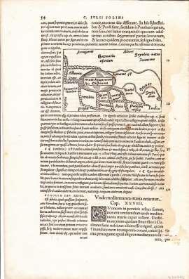 Карта Область Каспийского моря 1538