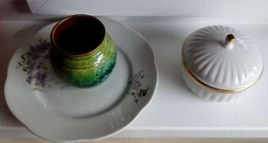 Тарелки Зеленые Цветы суповые и десертные