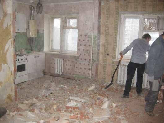 Демонтаж пола, стяжки, плитки, стен, домов