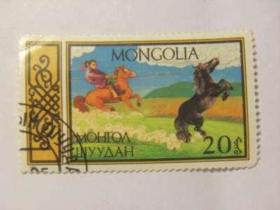 Марка 20 Монгол Шуудан Монголия