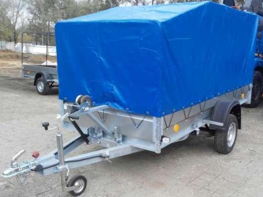 Автомобильный прицеп Трейлер 3,2х1,4м для перевозки снегохода, квадроцикла в Москве Фото 1