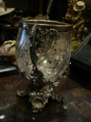 Старинная бонбоньерка(вазон),стекло,мета в Санкт-Петербурге Фото 5