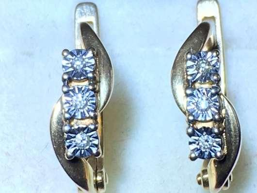 Серьги с бриллиантами новые. цена договорная