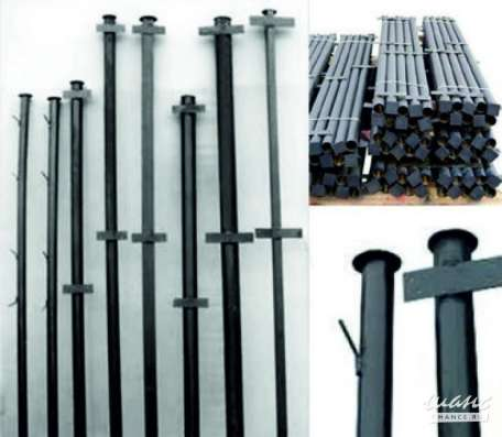 Столбы металлические с крючками и планками, беспл доставка