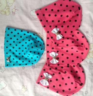 Детские трикотажные шапочки для девочек 3-6 лет