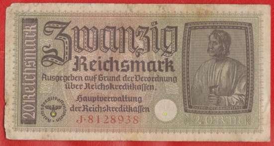 Германия 20 марок 1940 г