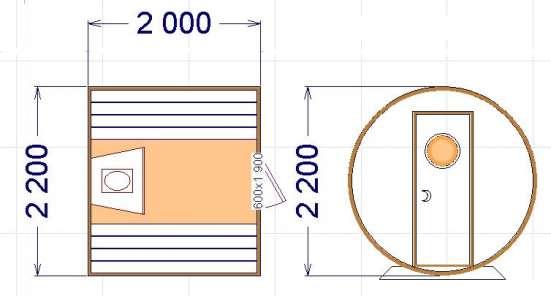 Баня бочка (мини): длина 2 м в Геленджике Фото 3