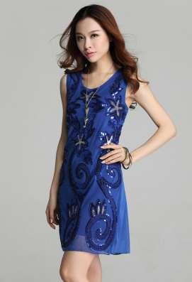 Платье синее праздничное (рассрочка без банка) в Перми Фото 3