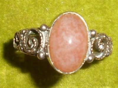 Кольцо перстень серебро 875 скань СССР
