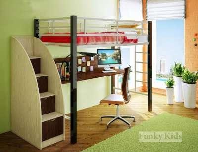 Фанки Лофт 3 кровать металлическая
