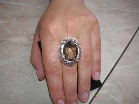 Авторское серебряное кольцо с раухтопазом